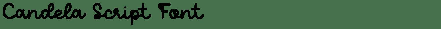 Candela Script Font