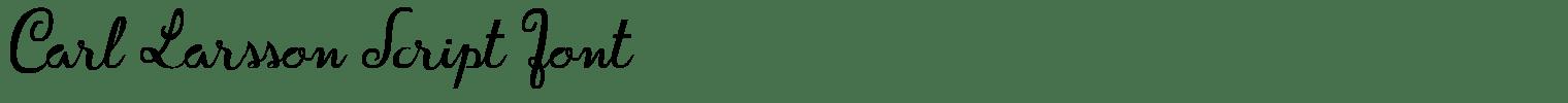 Carl Larsson Script Font