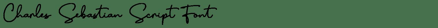 Charles Sebastian Script Font