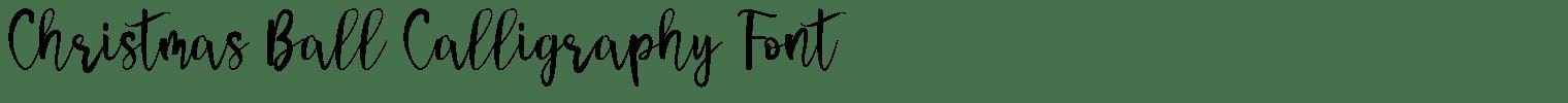 Christmas Ball Calligraphy Font