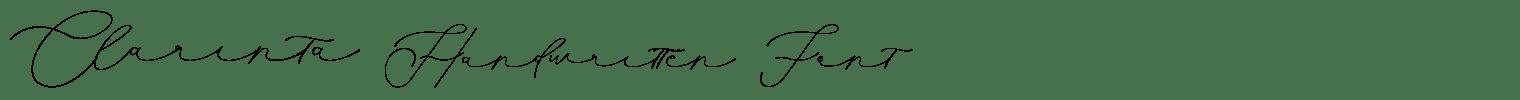 Clarinta Handwritten Font