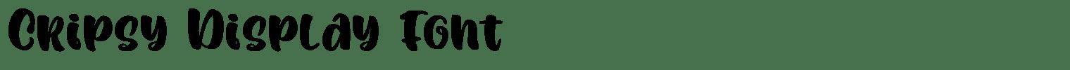 Cripsy Display Font