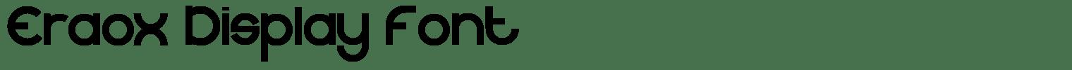 Eraox Display Font