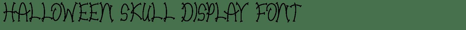 Halloween Skull Display Font