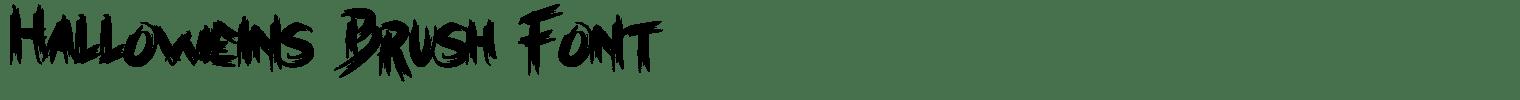 Halloweins Brush Font