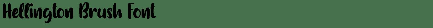 Hellington Brush Font