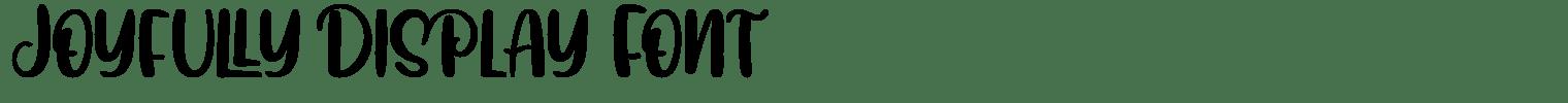 Joyfully Display Font
