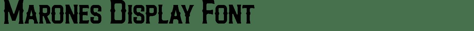 Marones Display Font