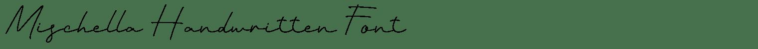 Mischella Handwritten Font