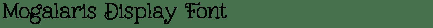 Mogalaris Display Font