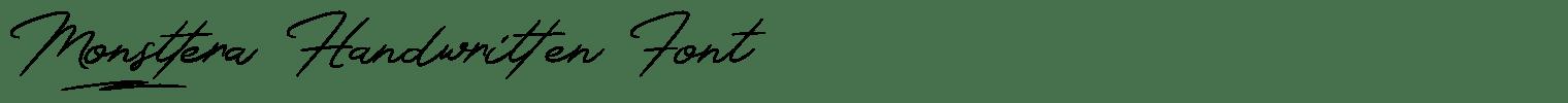 Monsttera Handwritten Font