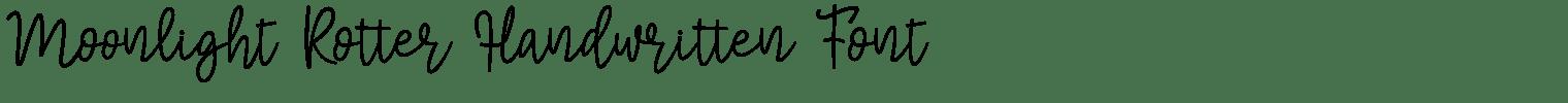 Moonlight Rotter Handwritten Font