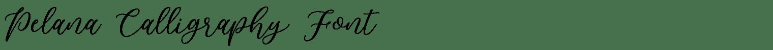 Pelana Calligraphy Font