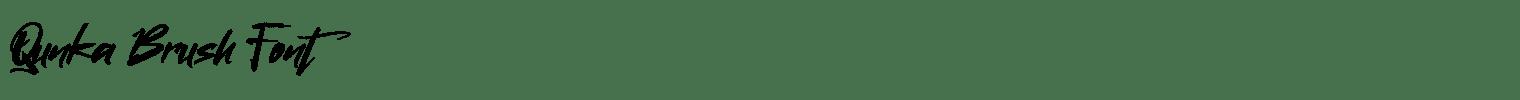 Qunka Brush Font