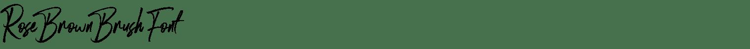 Rose Brown Brush Font