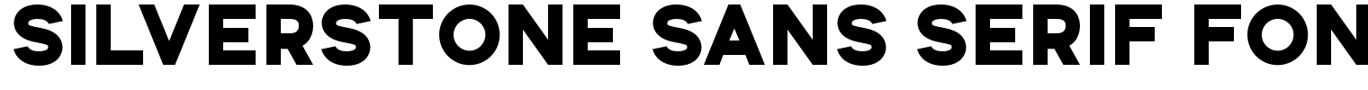 Silverstone Sans Serif Font
