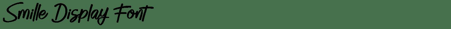 Smille Display Font