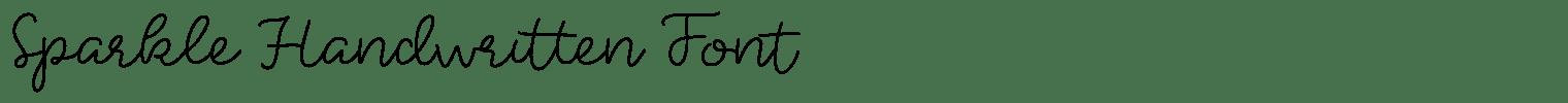 Sparkle Handwritten Font