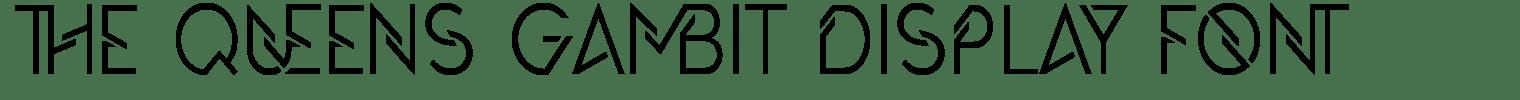 The Queens Gambit Display Font
