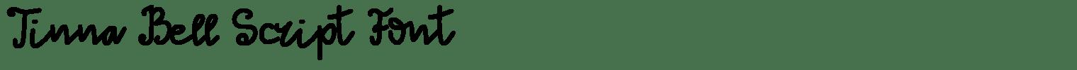 Tinna Bell Script Font