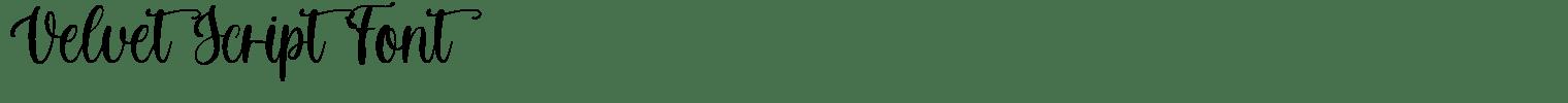 Velvet Script Font