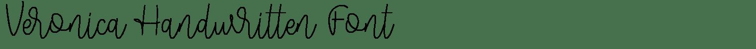 Veronica Handwritten Font