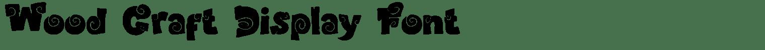 Wood Craft Display Font