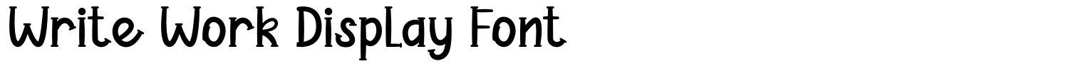 Write Work Display Font
