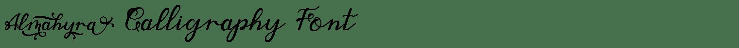 Almahyra Calligraphy Font