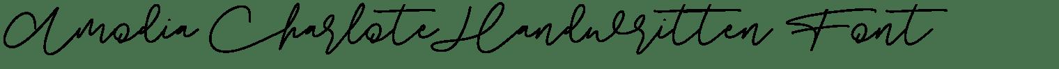 Amodia Charlote Handwritten Font