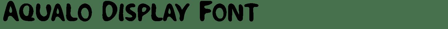 Aqualo Display Font