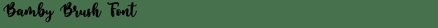 Bamby Brush Font