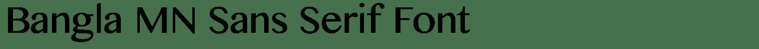 Bangla MN Sans Serif Font