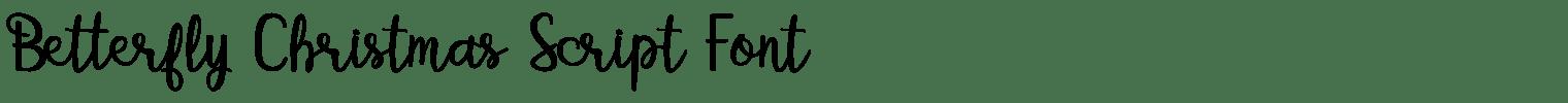 Betterfly Christmas Script Font