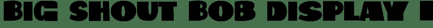 Big Shout Bob Display Font