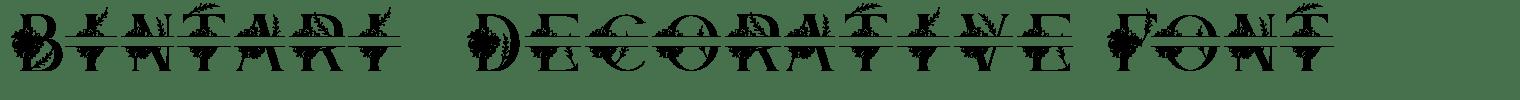 Bintari  Decorative Font