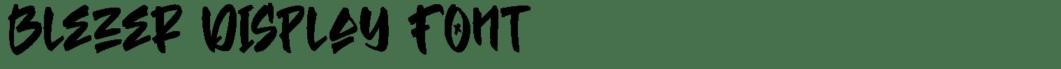 Blezer Display Font