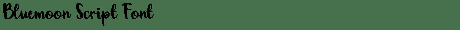 Bluemoon Script Font