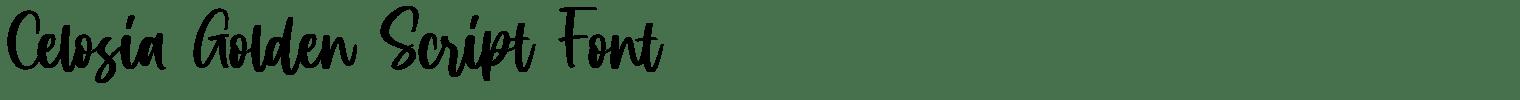 Celosia Golden Script Font