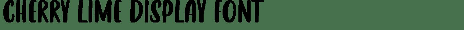 CHERRY LIME Display Font