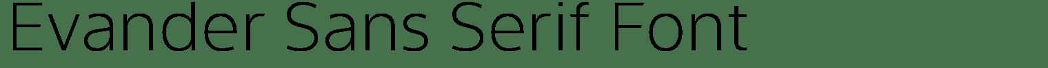 Evander Sans Serif Font