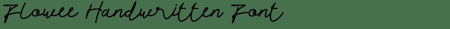 Flowee Handwritten Font