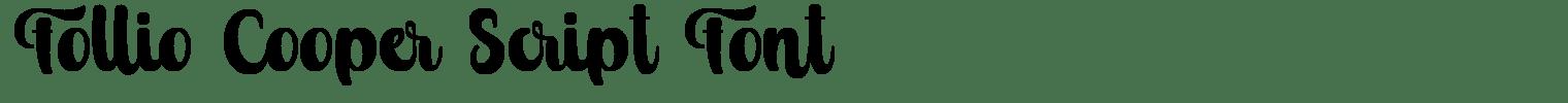 Follio Cooper Script Font