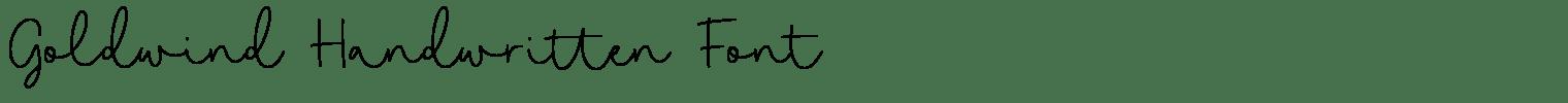 Goldwind Handwritten Font