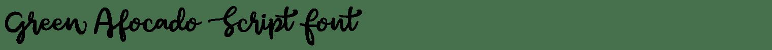 Green Afocado Script Font