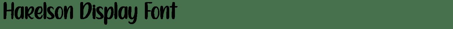 Harelson Display Font