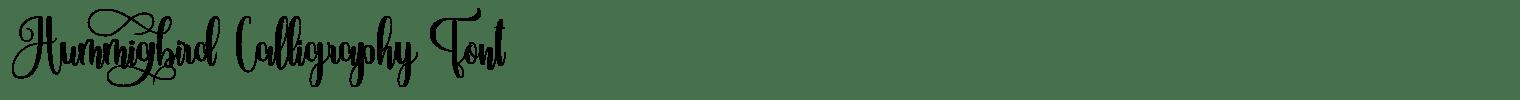 Hummingbird Calligraphy Font