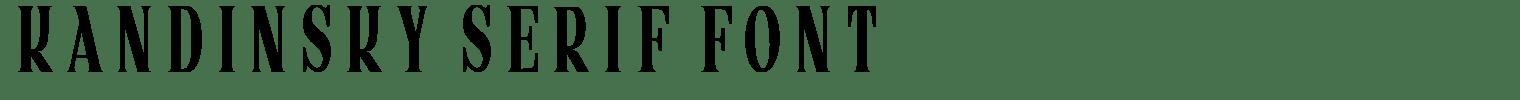 Kandinsky Serif Font
