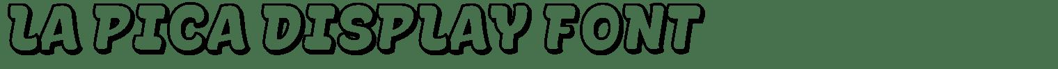 La Pica Display Font