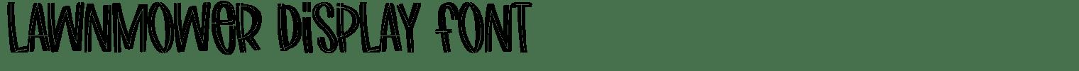 Lawnmower Display Font